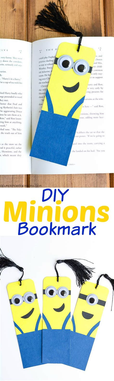 7 Supplies That Make Studying Easier by Diy Minion Bookmarks A Pumpkin And A Princess
