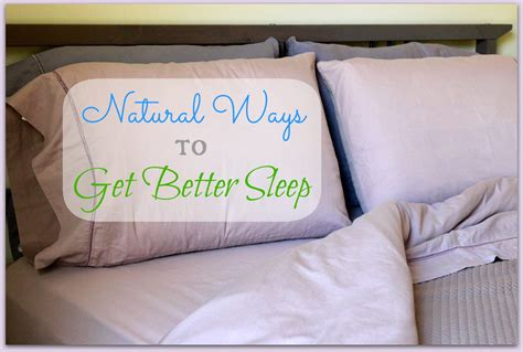 natural ways to sleep better how to sleep better