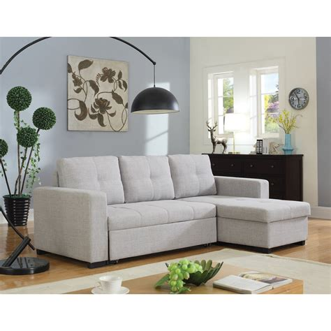 coaster everly beige sectional sofa with sleeper dunk