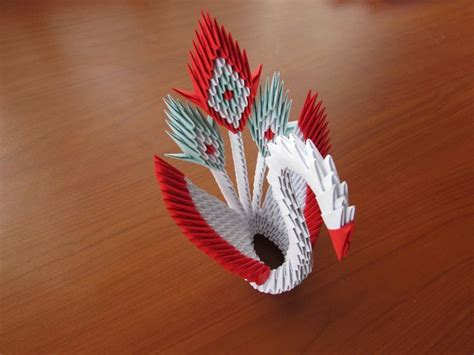 Small 3d Origami Swan - 3d origami peacock tutorial published on dec 24 2014