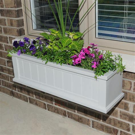 window box planters mayne 11 in x 48 in white cape cod window box 4841 w the home depot