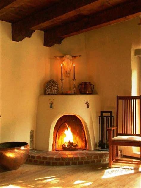 Kiva Style Fireplace by Historic East Side Adobe Home Near Vrbo