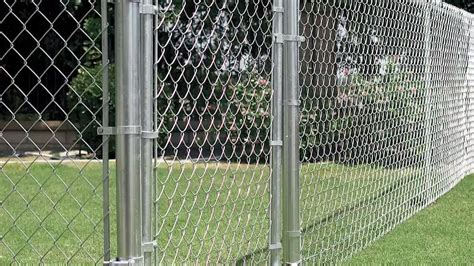 installing a chain link fence fencing how to
