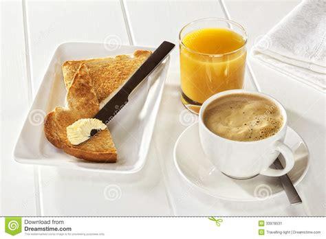 toast coffee house coffee toast orange juice stock image image 33978531