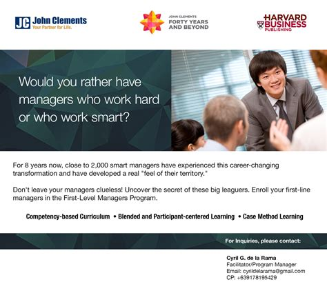 Harvard Mba Batch by Level Managers Program Batch 28 Clements