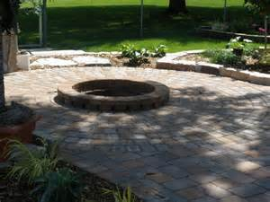 Brick Patio With Fire Pit by Brick Fire Pit Casual Cottage