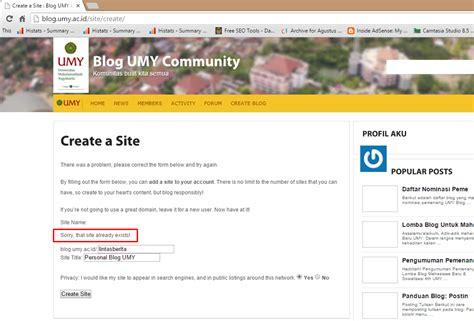 Create Blog Untuk Member Baru Blog Umy Community | create blog untuk member baru blog umy community
