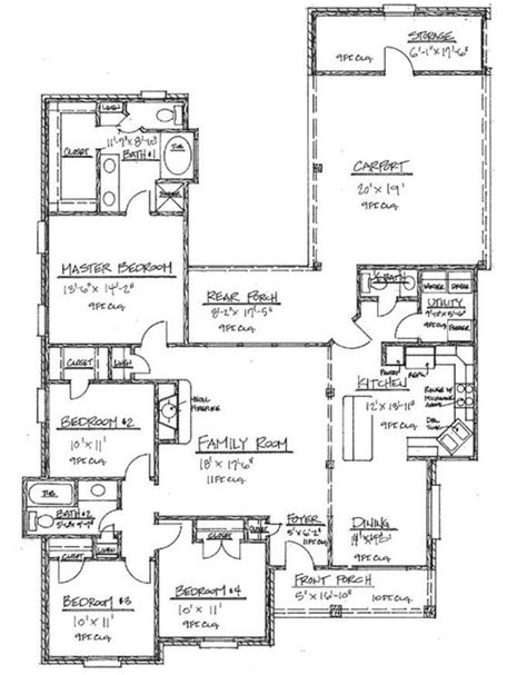 Floor Plans 2000 Square by 653452 Country 4 Bedroom 2000 Square