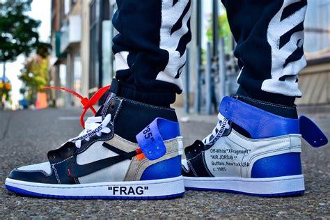Nike X Offwhite Air 1 Fragment 2017 white x air 1 fragment custom royal blue for sale new jordans 2017