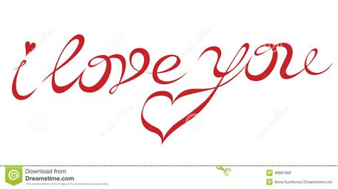 imagenes de i love you en cursiva inscription i love you stock illustration image of