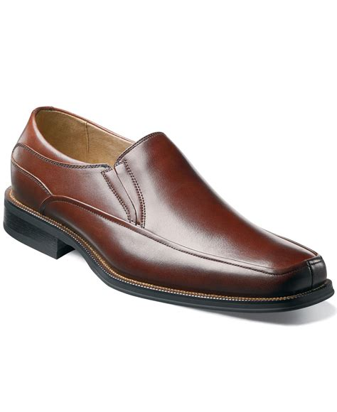 brown slip on loafers florsheim corvell moc toe slip on loafers in brown for
