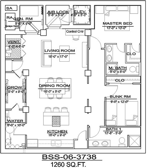 Bathroom Floor Plan Grid bomb shelter plans archives bee safe security inc