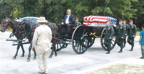 cooper funeral home caisson carries fallen soldier the