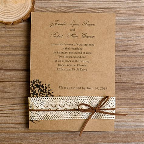 country wedding invitations lace wedding invitations best choice for vintage and rustic weddings