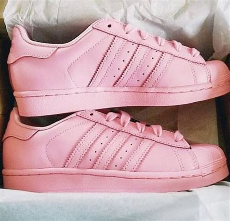 shoes adidas superstars pastel pink wheretoget
