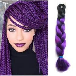 kanekolan hair black white grey 24 quot 100g 1 pc lot ombre purple box braids hair kanekalon