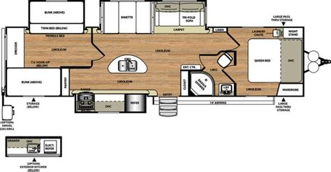 rv bunkhouse floor plans youngs rv