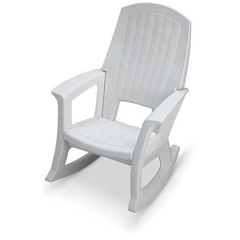 white recliner rocker oversized resin rocker recliner chair white 647176