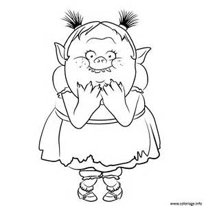 coloriage ugly bridget from bergens trolls jecolorie com