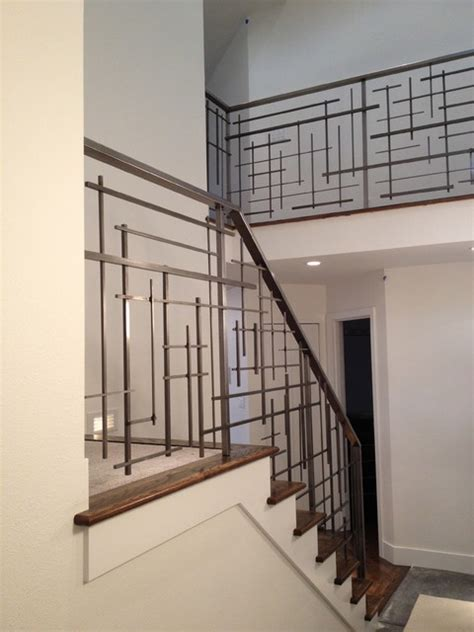 modern stair banisters custom railing contemporary staircase seattle by