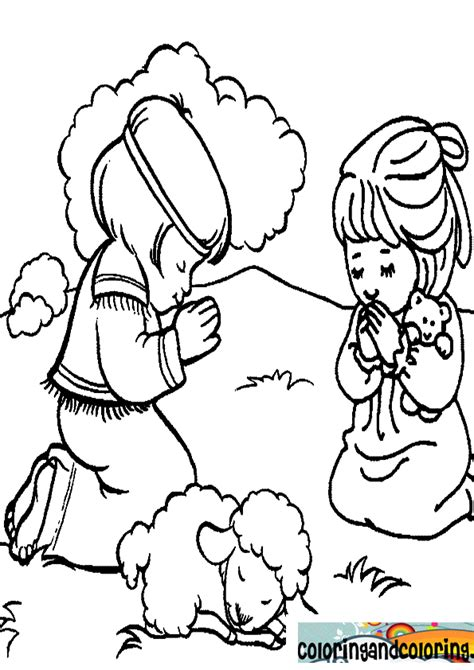Free Daniel Praying Coloring Pages Praying Coloring Pages
