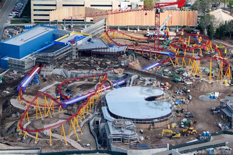 PHOTOS   Toy Story Land construction from the air
