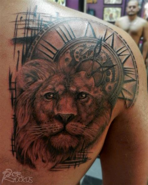 lion with clock by robruckus on deviantart