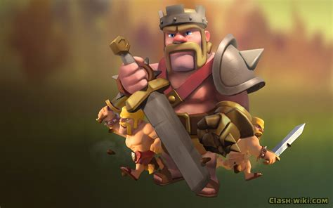 Coc Goblin King barbarian king clash of clans wallpaper www pixshark