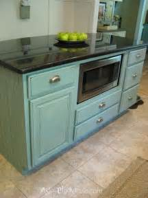Duck Egg Blue Kitchen Cabinets Kitchen Island Makeover Duck Egg Blue Chalk Paint