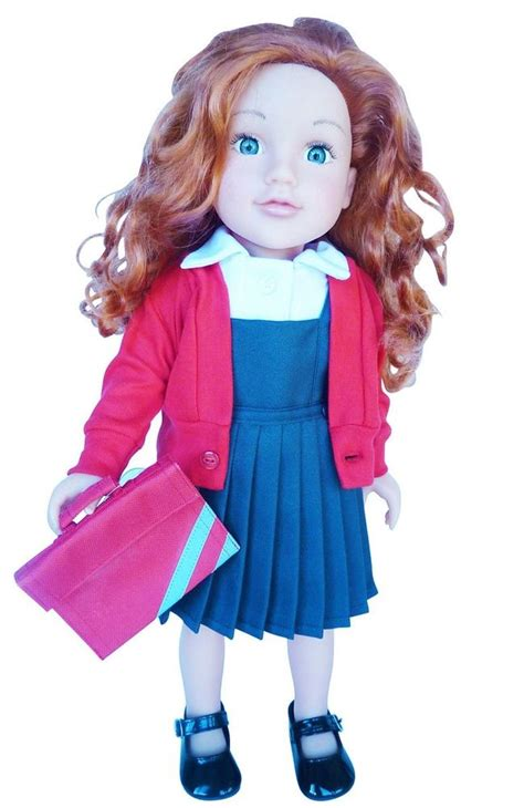 design a friend doll myer complete winter uniform our generation doll bag pinafore
