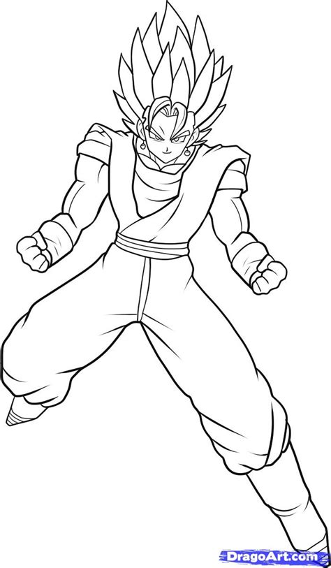 supercar drawing draw super vegito dragon ball z step by step drawing