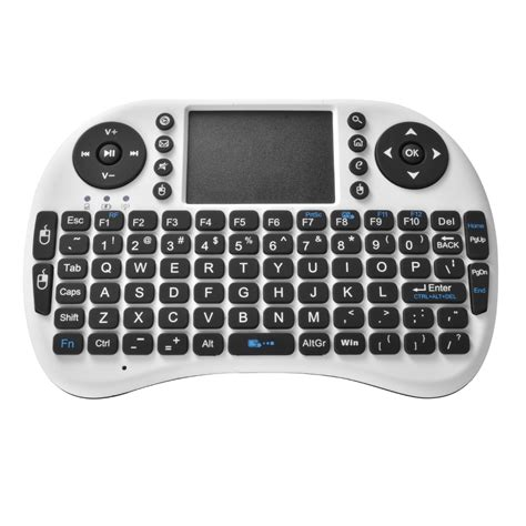 Keyboard Wireless Mini 2 4ghz Qwerty Dengantouchpad Mouse Fuction portable touchpad 2 4ghz mini wireless qwerty keyboard fly air mouse combo ebay