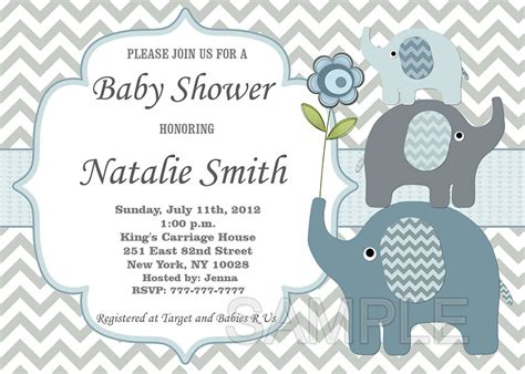 Elephant Baby Shower Invitation Theruntime Com Elephant Baby Shower Invitations Free Template