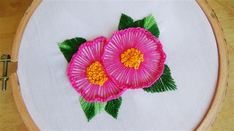 Handmade Embroidery - embroidery ruffle button stitch
