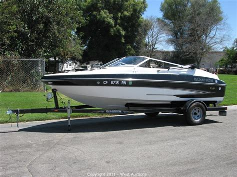 glastron boat trailer west auctions auction 2006 glastron gx 185 sf boat with