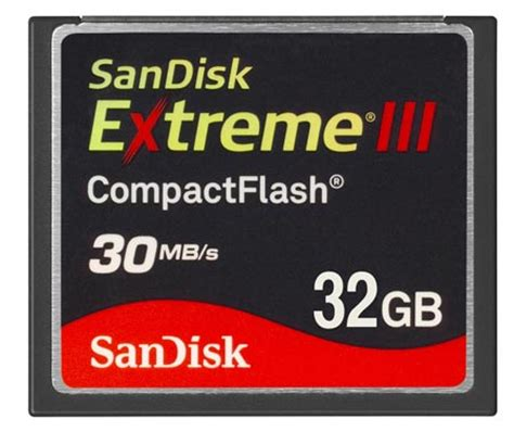cf card sandisk announces 32 gb sandisk iii compactflash