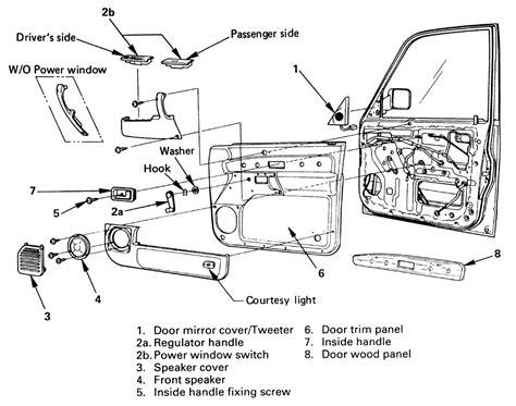 isuzu rodeo parts diagram 1999 isuzu rodeo door lock diagram isuzu auto parts