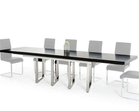 black extendable dining modern black extendable dining table 44d2736xt