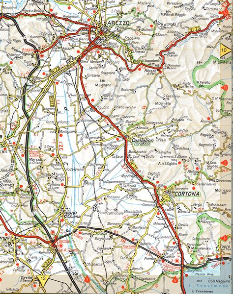 map on road cortona road map cortona italy mappery