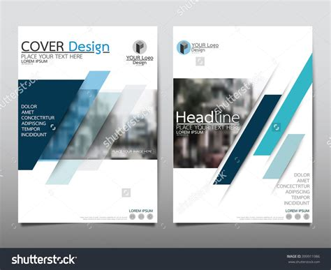 Blue Annual Report Brochure Flyer Design Template Vector Leaflet Cover Presentation Abstract Flyers Design Templates