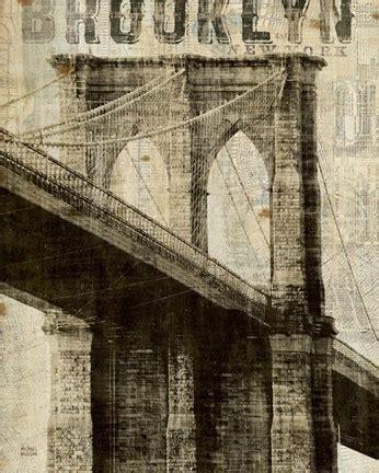 Image Gallery New York Vintage Vintage Ny Bridge Print By Michael
