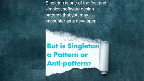 singleton design pattern dot net tricks singleton in c pattern or anti pattern dotnetcurry