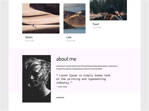 adobe muse portfolio templates by marcin czaja dribbble