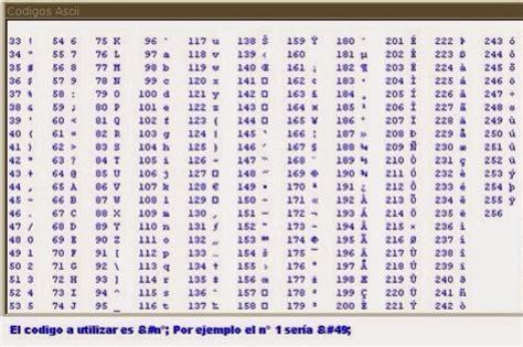 tabla de codigo ascii codigo ascii en pdf pictures to pin on pinterest pinsdaddy