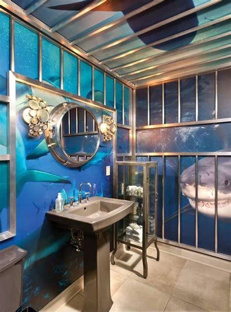 how do sharks use the bathroom shark cage bathroom shark week in the bathtub room