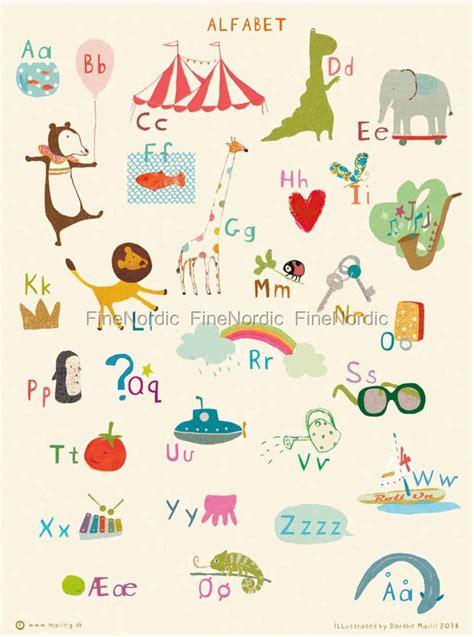 Plakat Alfabet by Maileg Plakat Alfabet 40 X 50 Cm