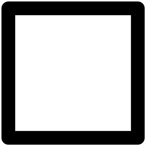 square outline shape svg png icon free 30075 onlinewebfonts