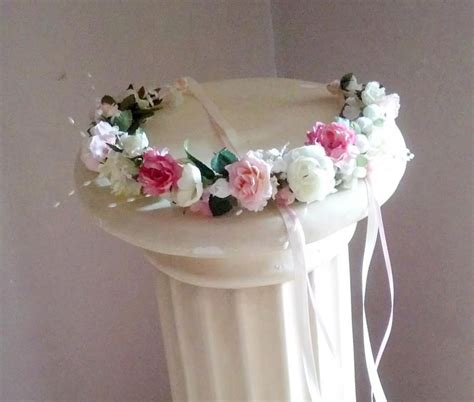 Wedding Hair Accessories Pink by Bridal Flower Crown Wedding Hair Accessories Pink