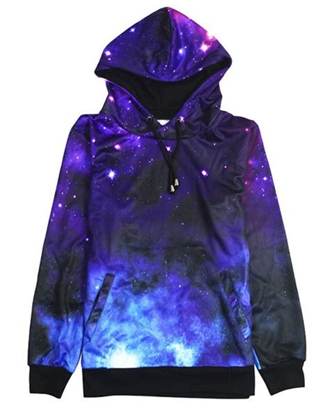 galaxy pattern clothes stylish hooded long sleeve galaxy pattern women s hoodie