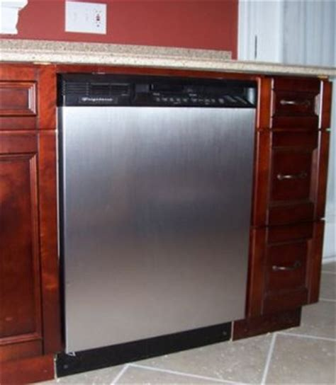easy way to change the dishwasher front door